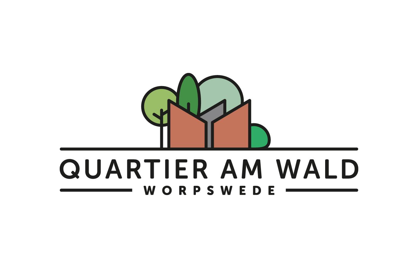 Logo Quartier am Wald, farbig