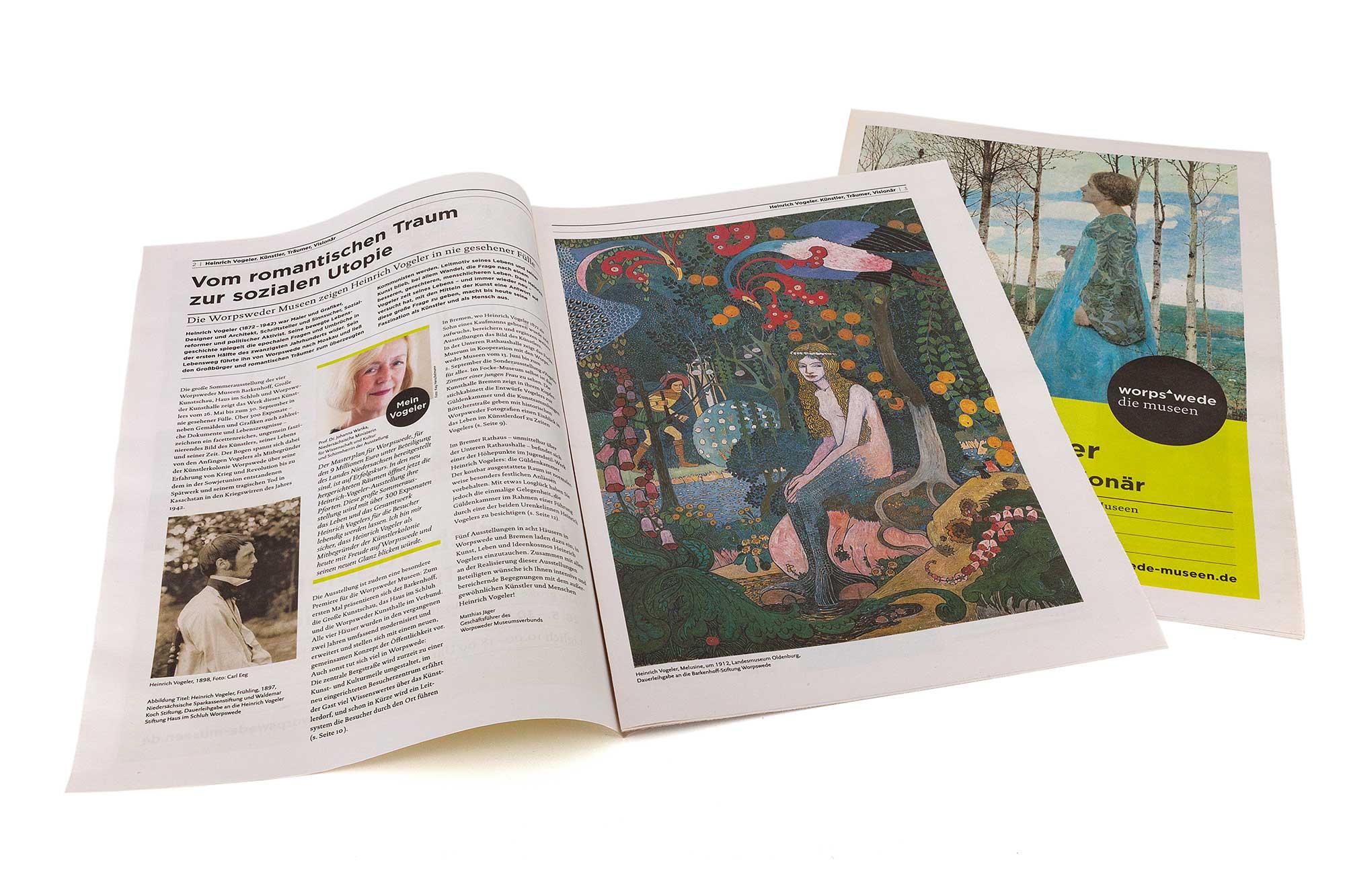 Zeitungsbeilage zur Heinrich-Vogeler-Ausstellung