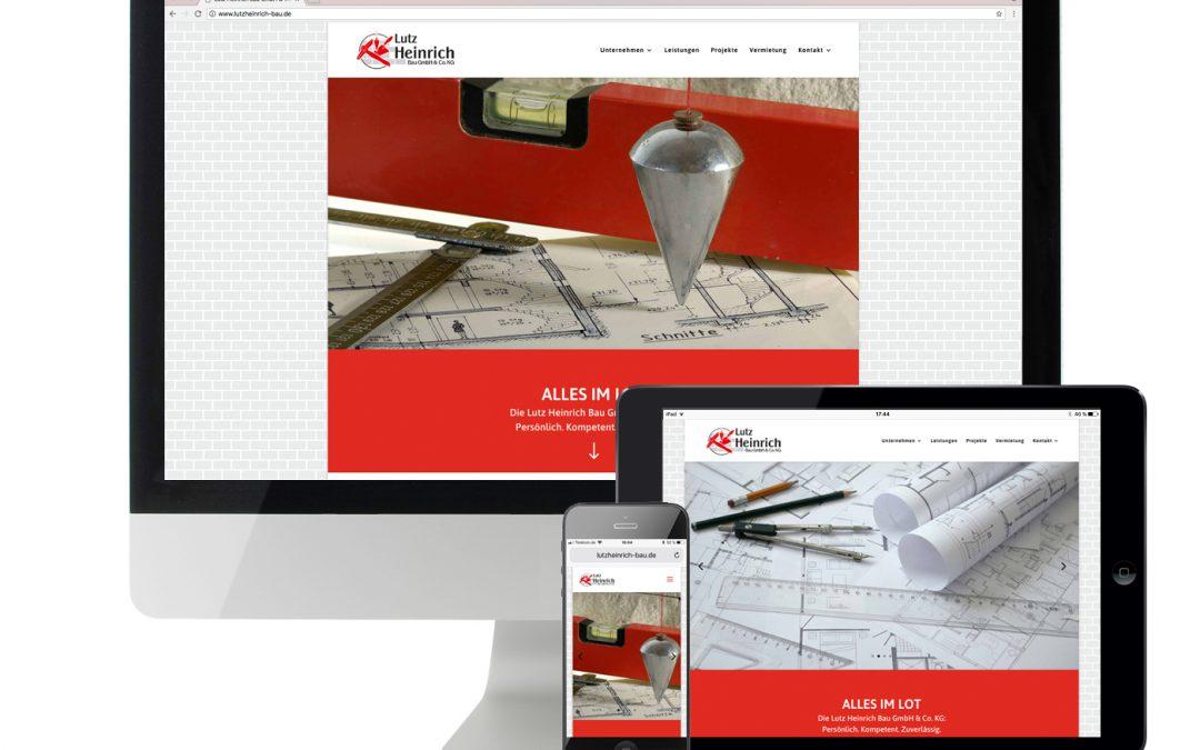 Website Lutz Heinrich Bau GmbH