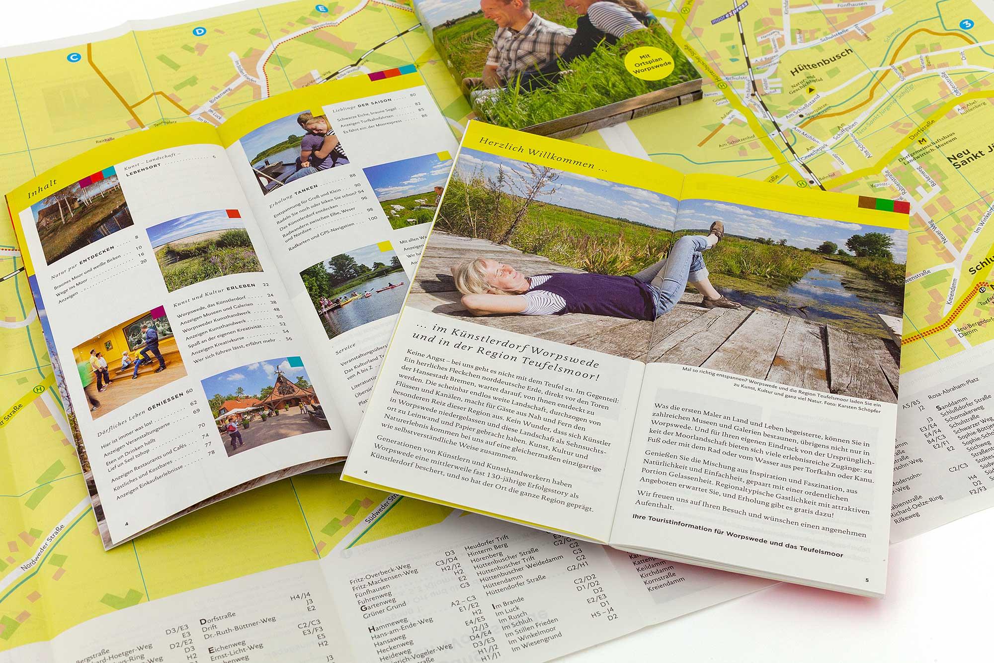 Broschüren und Ortsplan