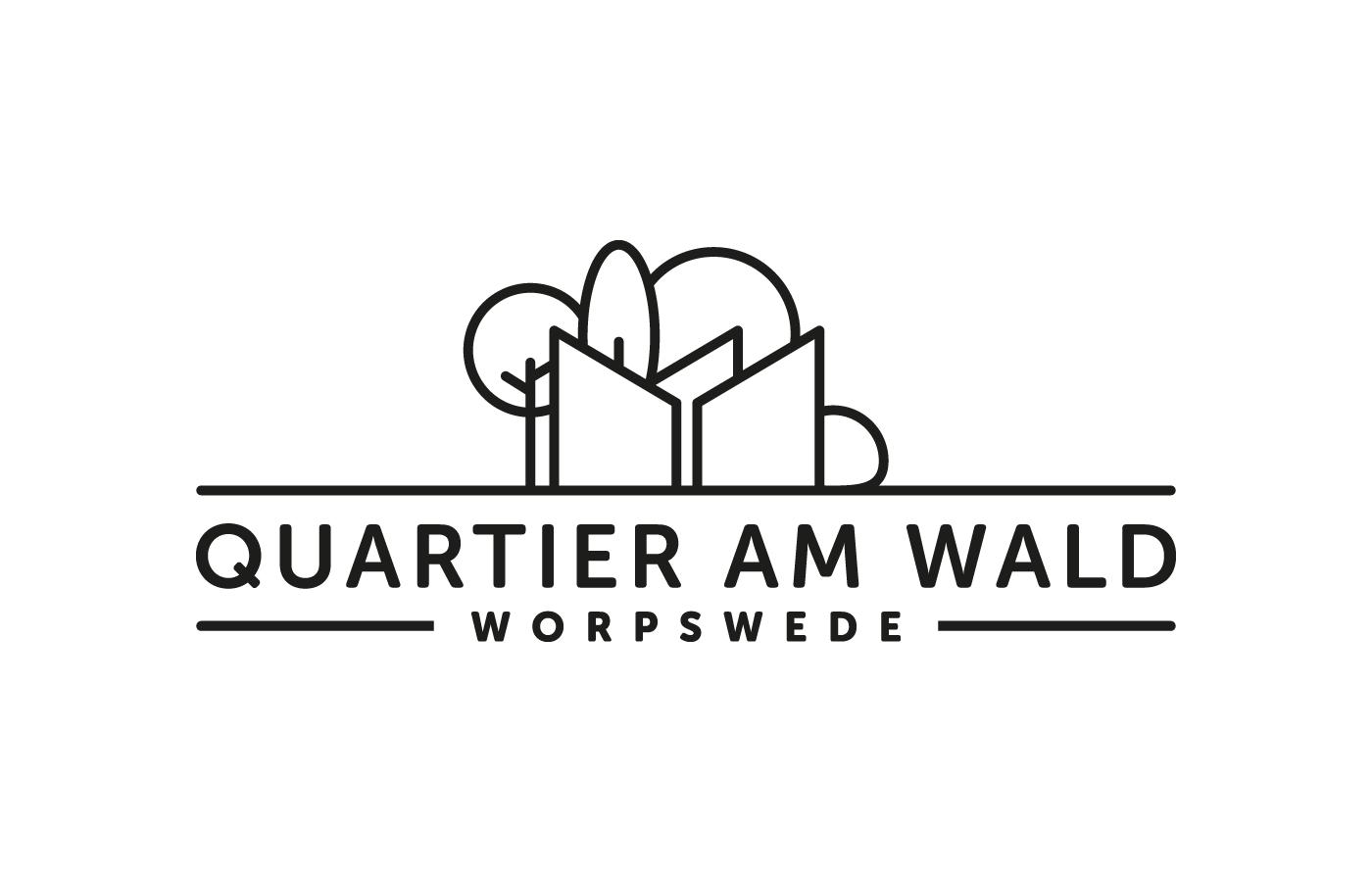 Logo Quartier am Wald, schwarz-weiß