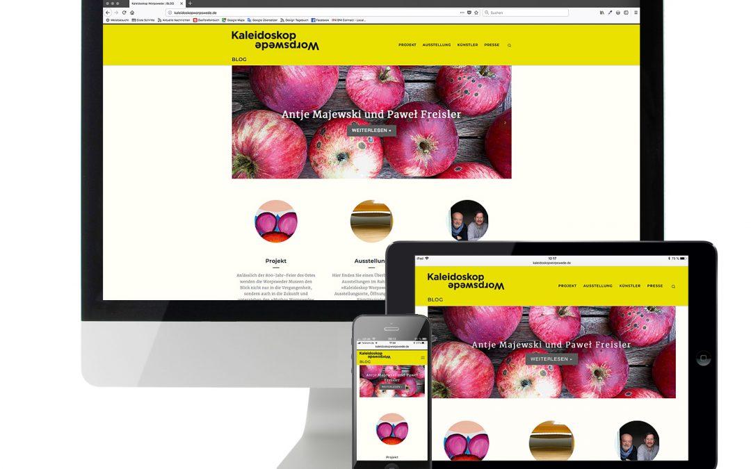 Website Kaleidoskop Worpswede